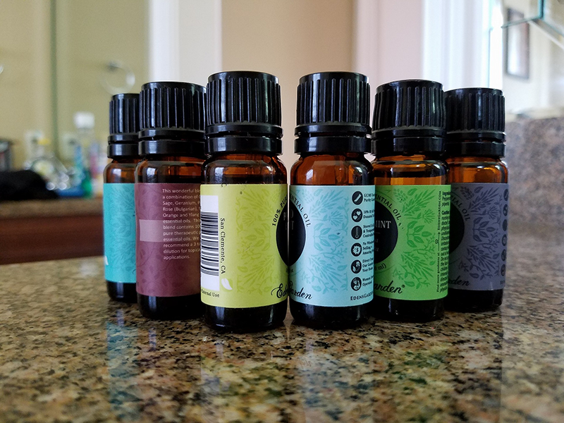 Essential Oils in Amber Bottles