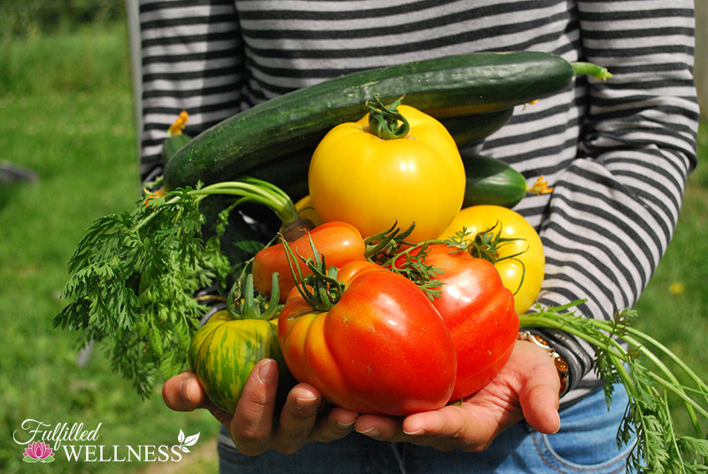 Person with fresh vegetables