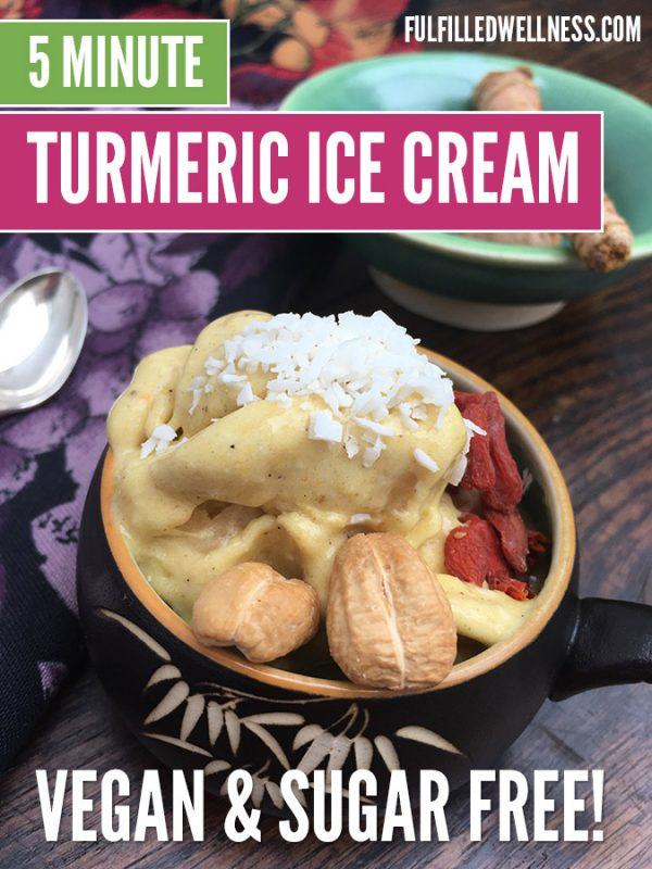 Vegan Turmeric Ice Cream