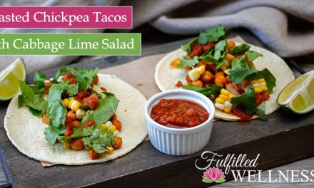Roasted Chickpea Tacos with Cabbage Lime Salad