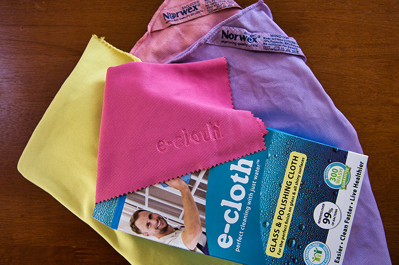 Norwex and e-cloth window cleaning cloths